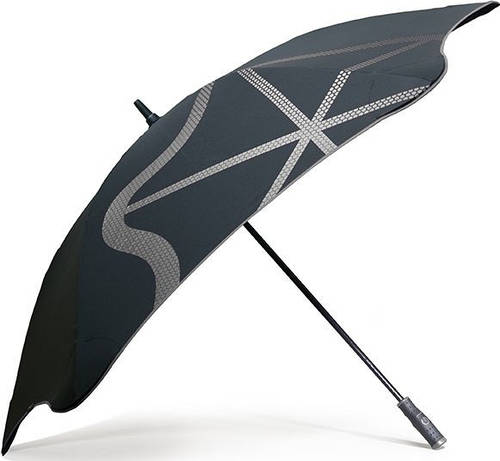 Противоштормовой зонт-трость женский с большим куполом механический BLUNT (БЛАНТ) Bl-golf1-charcoal