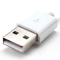 Штекер USB  под шнур, бакелит, белый