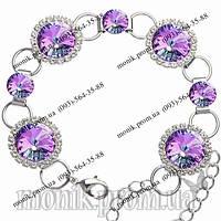 Браслет с фиолетовыми кристаллами Сваровски (Swarovski)