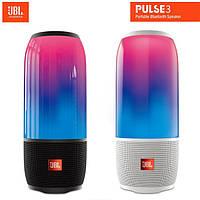 Колонка портативная беспроводная JBL Pulse 3, Большая влагозащитная Bluetooth ЖБЛ пульс 3 с светомузыкой, Реплика супер качество