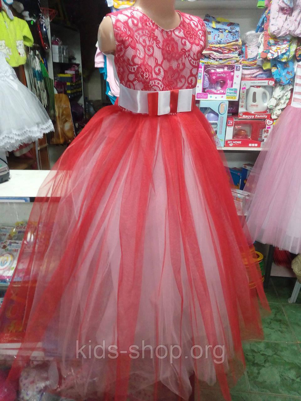 b762a38797f Красное детское бальное платье на 6 - 10 лет - Kids shop в Черниговской  области