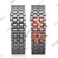 Iron Samurai бинарные часы Japan style (Silver&Fire), фото 1