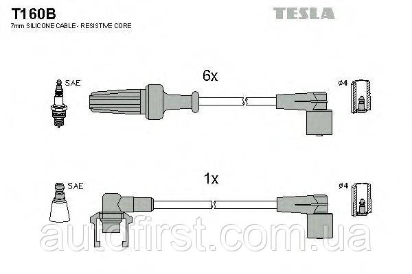 Высоковольтные провода Tesla T160B для Renault