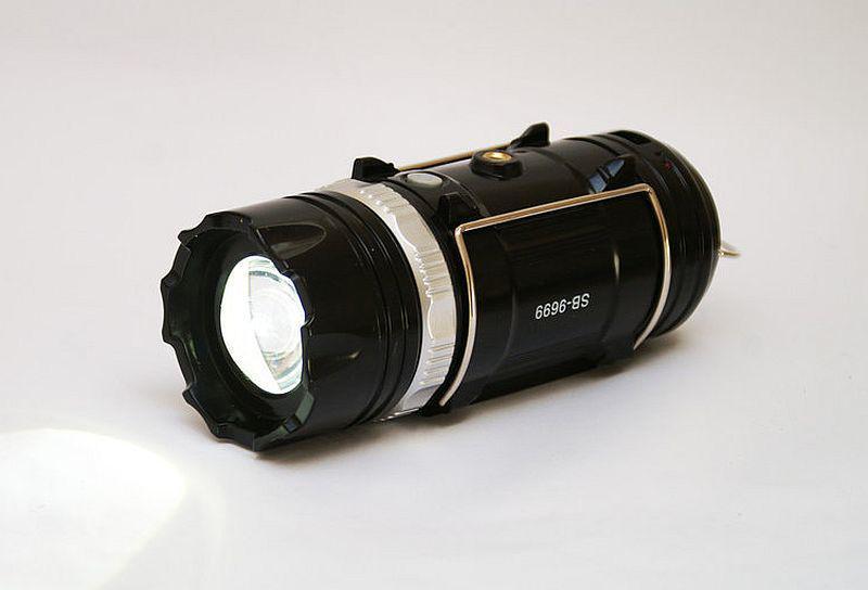 Кемпинговый фонарь Sb-9699 black (солнечная панель, power bank)