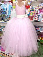 Розовое бальное платье для девочки до 8 - 11 лет