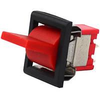 Тумблер с клавишей RLS-102-F1 (ON-ON), 3-х контактный, 3A, 250VAC, красный