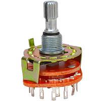 Переключатель галетный RBS-1, 2-12ways, 1-6poles, 0,3A, 250VAC