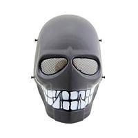 """Страйкбольная маска """"Black Smiley"""" - желтый, фото 1"""
