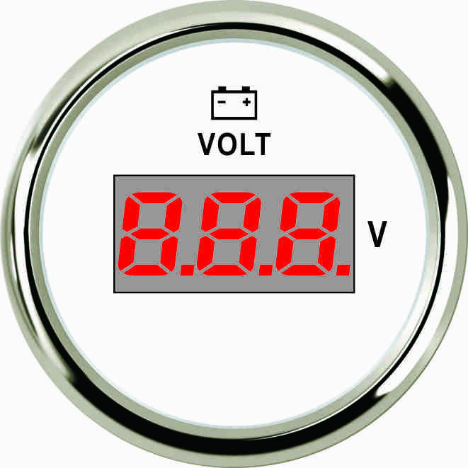 Цифровой вольметр PEV2-WS-8-32 белый 52мм