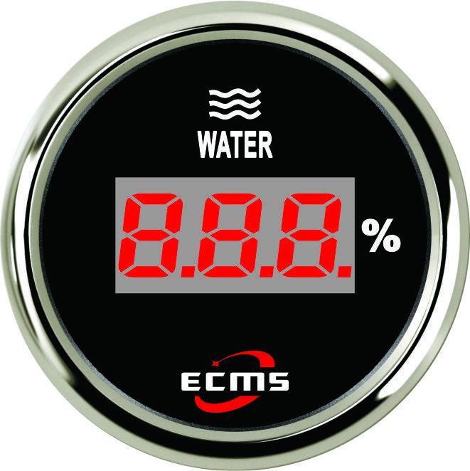 Цифровой указатель уровня воды PEW2-BS-240-33 черный 52мм