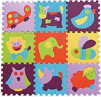 Детский игровой коврик-пазл «Веселый зоопарк» 92х92 см (GB-M129А2)