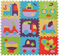 Детский игровой коврик-пазл «Быстрый транспорт» 92х92 см (GB-M129V2)