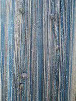 Кисея Радуга дождь с бусинами  ( белый+серый+голубой)