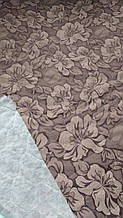 Жаккардовая матрасная ткань стёганая на синтепоне Цветок кор.