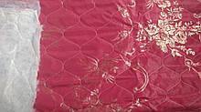 Жаккардовая матрасная ткань стеганая на синтепоне Красная
