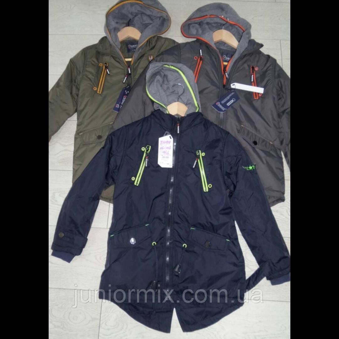 Демисезонные куртки для мальчиков на флисе оптом  GRACE