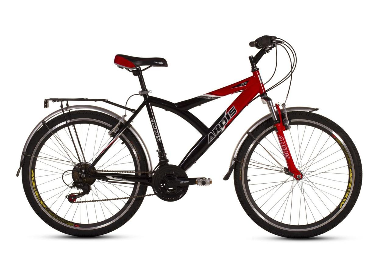 """Горный велосипед ARDIS STRIKER CTB 26"""" 17""""  Черный/Красный"""