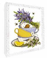 Декупаж на холсте Чай для любимой, Цветы, Идейка (94707(11)-1)