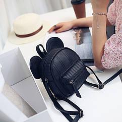 Рюкзак черный, с ушами микки