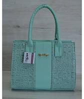 Каркасная женская сумка цвета ментол