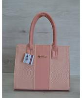 Каркасная женская сумка, цвет пудры