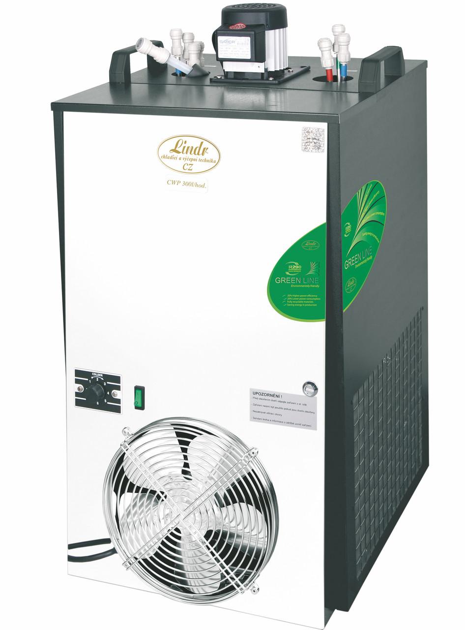 Охладитель пива подстоечный - 300 л/ч - проточный, CWP 300 Green line (4 контура), Lindr, Чехия