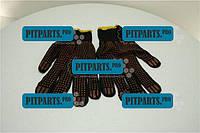 Перчатки рабочие (черные с  точкой)  (ПВХ)