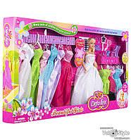 Кукла DEFA Дефа с гардеробом платьями одеждой и аксессуарами 8027