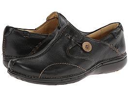Мокасины (Оригинал) Clarks Un.loop Black Leather