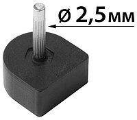"""Набойки на штыре """"cobby"""" черные, 8mmx8mm штырь 2,5mm возможна покупка в ассортименте,премиум класс"""