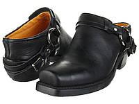 Сабо (Оригинал) Frye Belted Harness Mule Black Greasy Leather