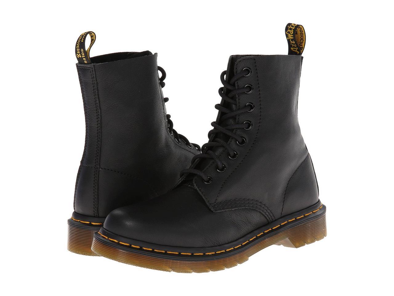 Ботинки/Сапоги (Оригинал) Dr. Martens Pascal 8-Eye Boot Black Virginia