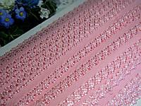 Бейка - резанка ажурная. Цвет розовый 2.3 см