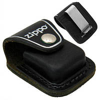 Чехол Zippo черный с клипом