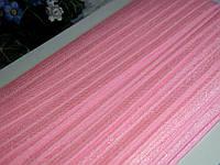 Бейка - резанка (лента-стрейч). Цвет розовый 1.5 см