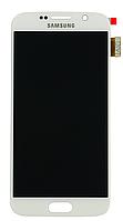 Дисплей (экран) Samsung G920F Galaxy S6 with touch screen (с тачскрином в сборе) ORIG, white (белый)