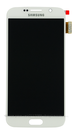 Дисплей (экран) Samsung G920F Galaxy S6 with touch screen (с тачскрином в сборе) ORIG, white (белый), фото 2