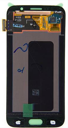 Дисплей (экран) Samsung G920F Galaxy S6 with touch screen (с тачскрином в сборе) ORIG, black (черный), фото 2