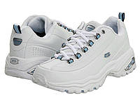 Кроссовки Кеды (Оригинал) SKECHERS Premiums White Smooth Leather Blue Trim cc040d60952