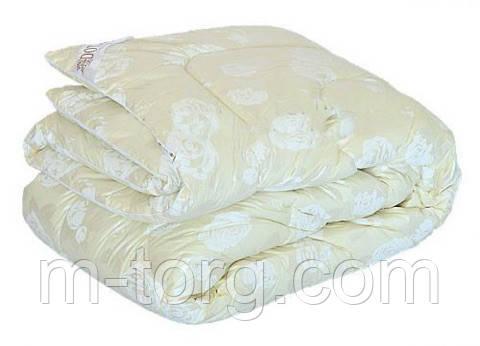 Одеяло двуспальное искусственный лебяжий пух Downfill 180/210,ткань тик, фото 2