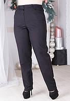 Женские прямые классические брюки в больших размерах 6115438