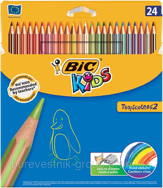 Цветные карандаши Bic TROPICOLORS ® 2 24цв