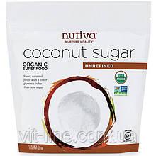 Nutiva, Органічний кокосовий цукор, (454 г)