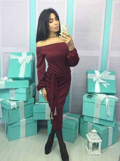 Платье миди женское