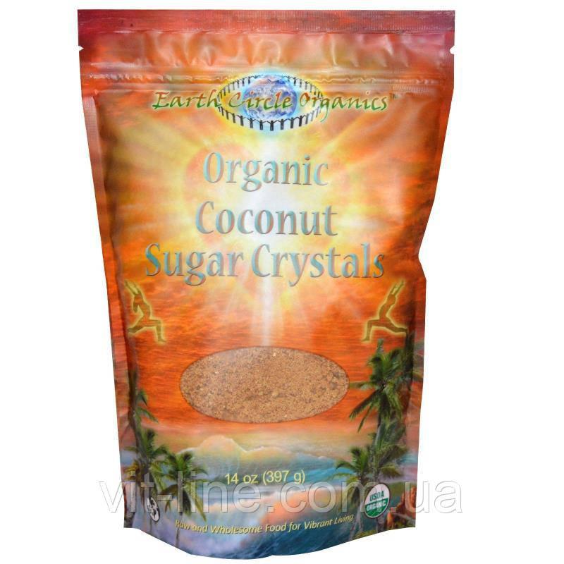 Earth Circle Organics, Кристаллический кокосовый сахар (397 г)