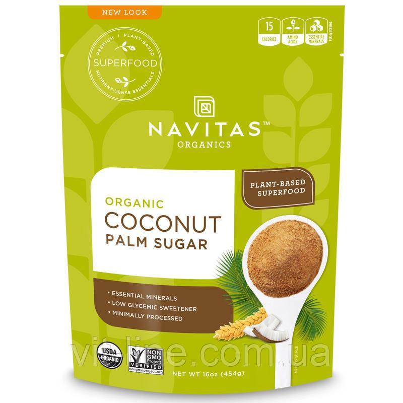 Navitas Organics, Органический кокосовый пальмовый сахар, 454 г