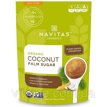 Navitas Organics, Органический кокосовый пальмовый сахар, 454 г , фото 2