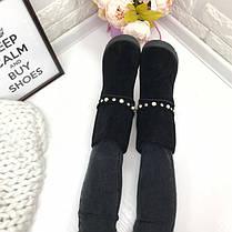 Женские угги черные со съемными браслетами, фото 3