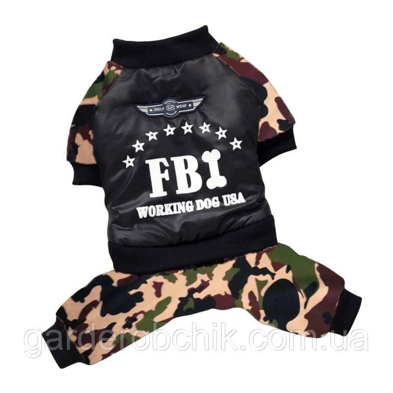 """Комбинезон  для собаки """"FBI"""", куртка  для собаки. Одежда для собак"""
