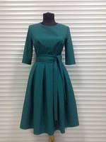 Платье складка с поясом
